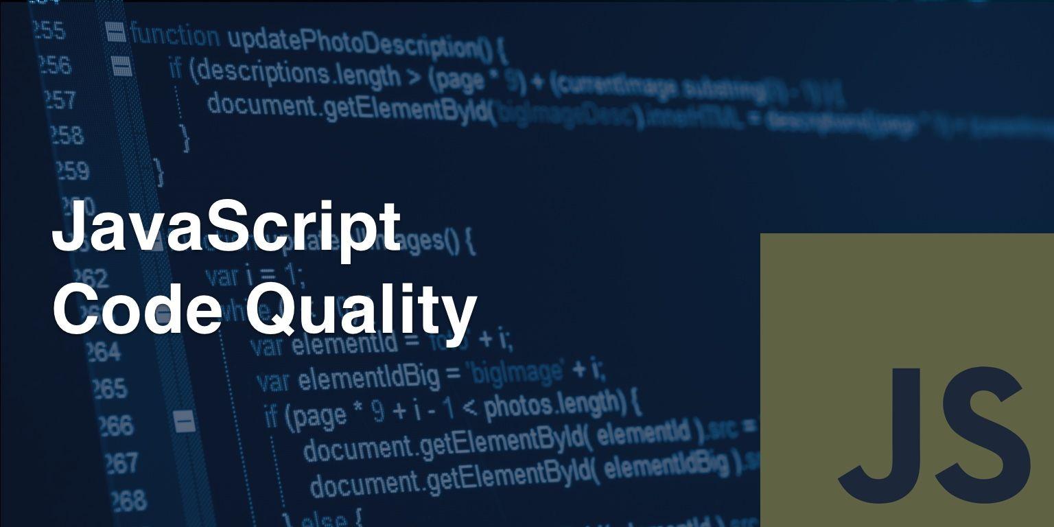 JavaScript code quality