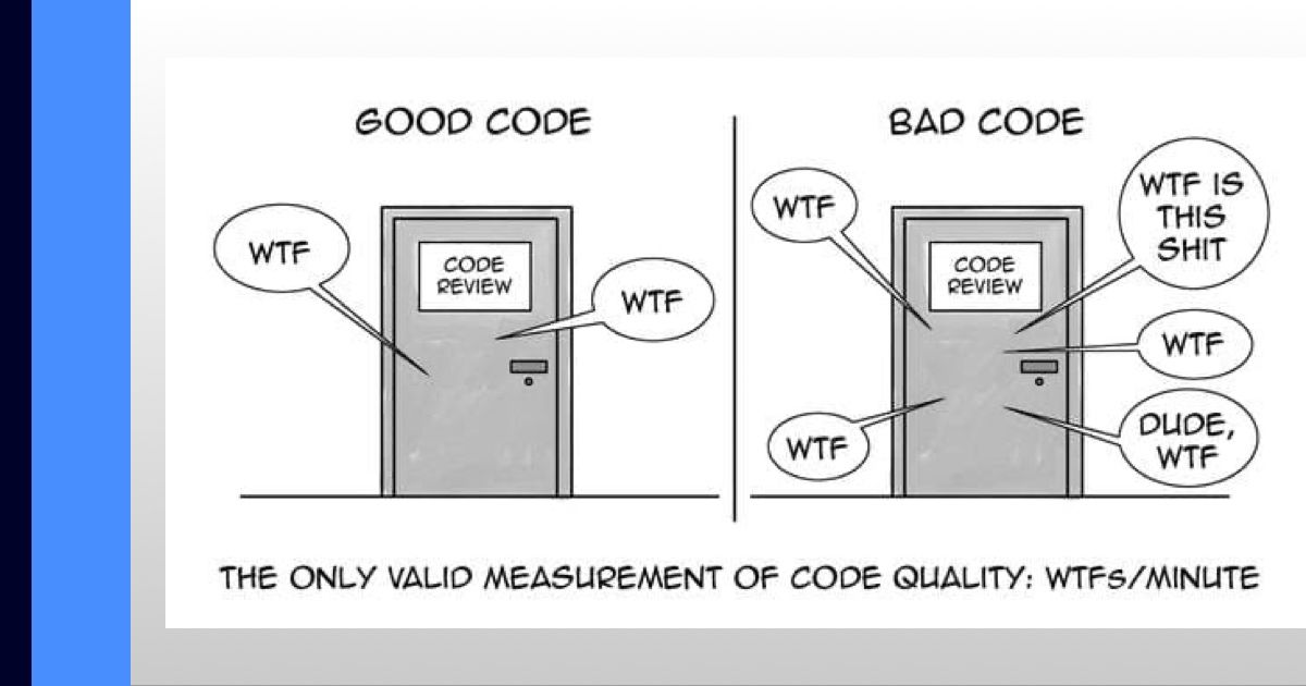 Good vs. Bad code meme